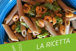 ricetta pasta proteica e gamberetti